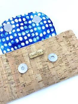Blue floral flap