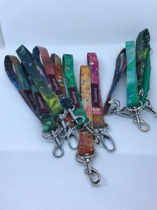Bright batik key straps