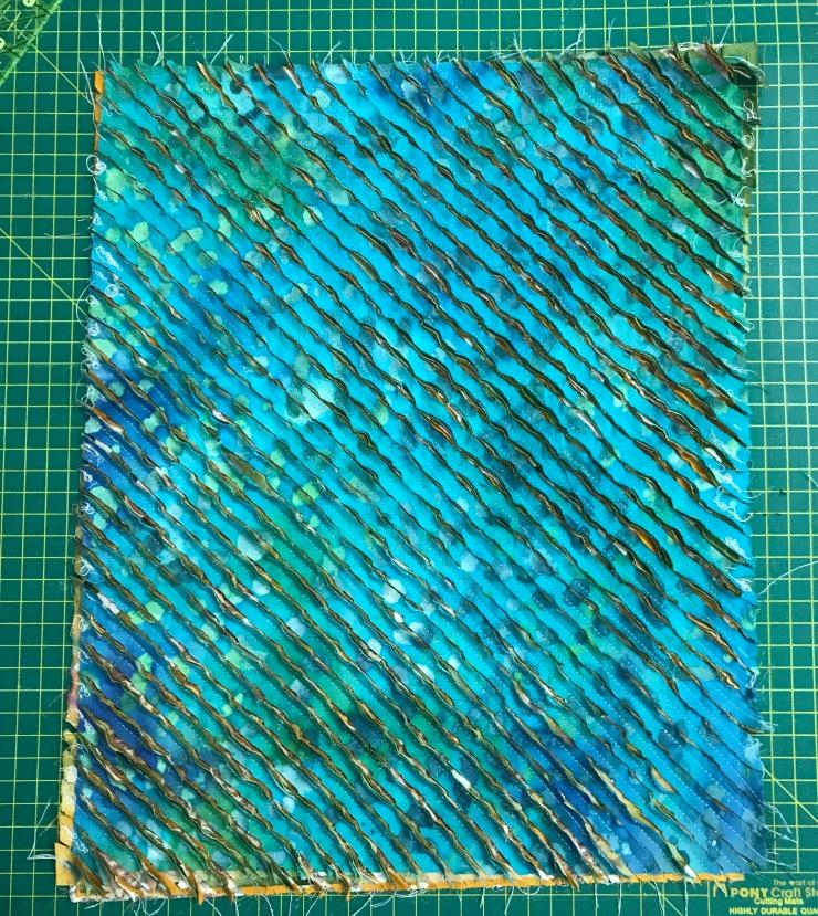 Cut chenille fabric