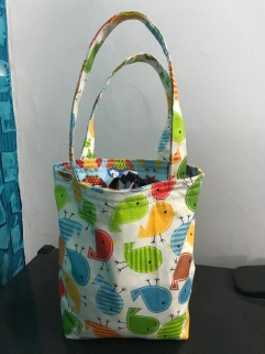 Drawstring bucket bag