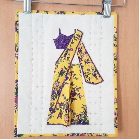 Mixed media mini quilt